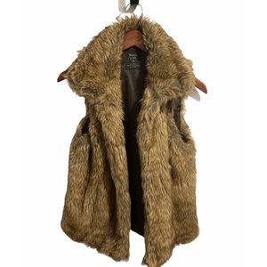 Zara Trafaluc Brown Fur vest size Medium
